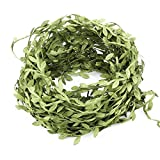 PUCKWAY Artificial Vines, Fake Hanging Plants Silk Ivy Garlands Simulation Foliage Rattan Green Leaves Ribbon Wreath Accessory Wedding Wall Crafts Party Décor