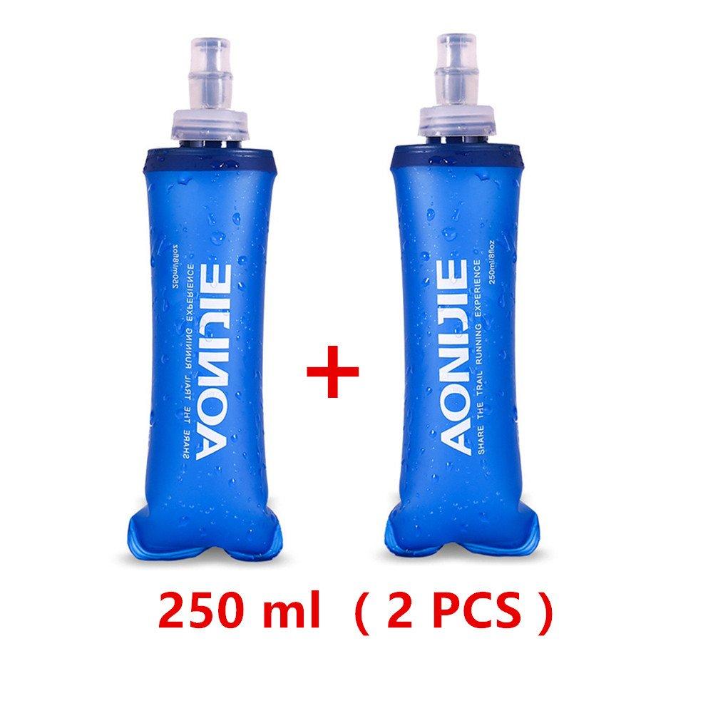 AONIJIE - Botella plegable para deporte, de poliuretano termoplástico sin bisfenol A, 2 unidades, 250 ml / 500 ml, 500ML Quzhou china