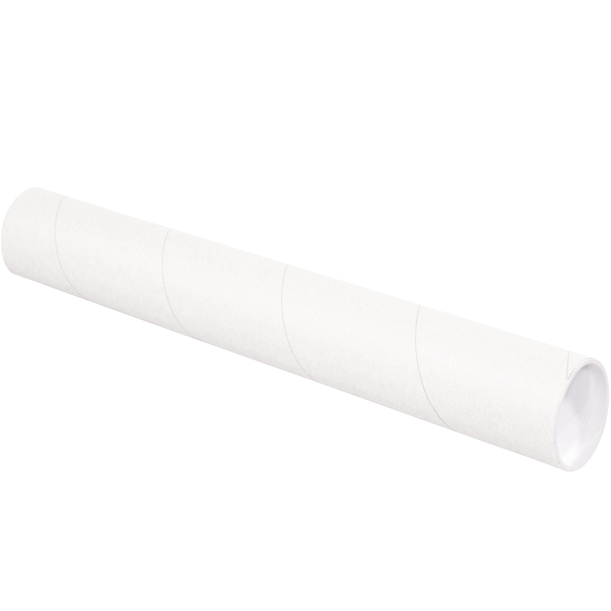 Mailing Tubes with Caps, 3'' x 18'', White, 24/Case by Great Box Supply