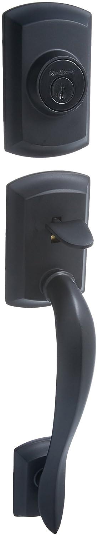 Iron Black Kwikset 800AVH Lip 514 SMT Avalon Single Cylinder Handleset Exterior Only
