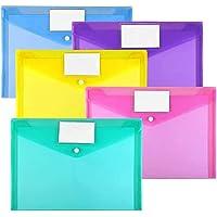 Plastic Envelopes Poly Envelopes, Sooez 10 Pack Clear Document Folders US Letter A4 Size File Envelopes with Label…