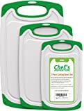 Chef's INSPIRATIONS Plastic Cutting Board - 3 Piece Set, Green and White