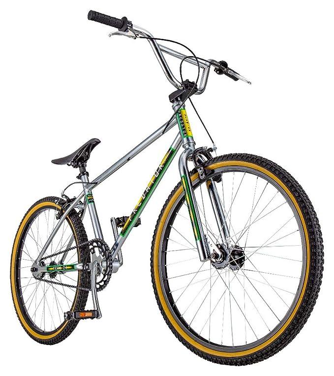 Schwinn Predator Team 24 Freestyle BMX Cruiser Bike, Throwback 1983 Design, Single-Speed Drivetrain, Hi-Ten Steel Frame, Rattrap Pedals, Front and Rear Caliper Brakes, 24-Inch Gum Wall Tires, Chrome best bmx bikes
