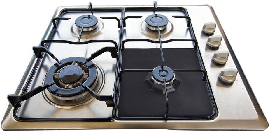 Details about  /4PCS//Set Reusable Non-stick Self Adhesive Foil Cleaning Mat For Gas Stove