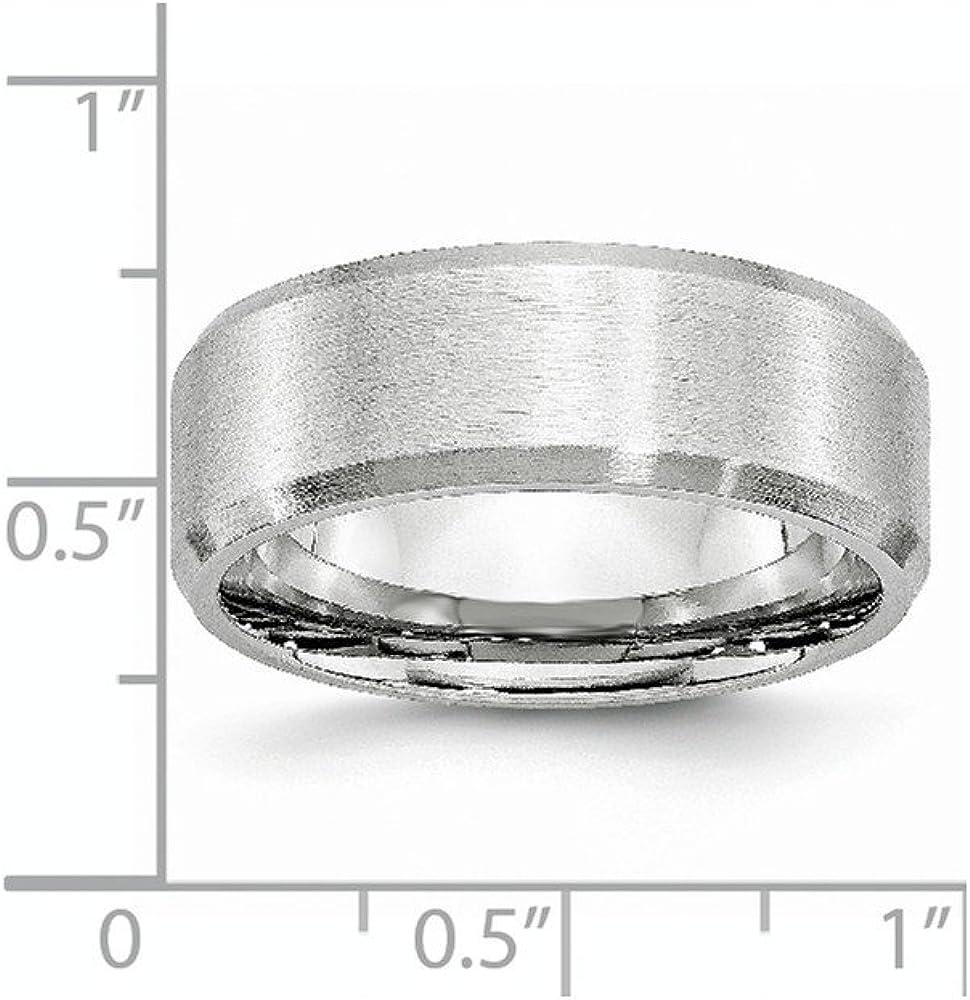 Diamond2Deal Cobalt Satin 5mm Wedding Band Fine Jewelry Ideal Gifts for Women