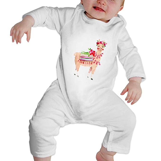 6b373d766 Amazon.com  Anonymous Guest Baby Romper Llama Print Pajama Clothes ...