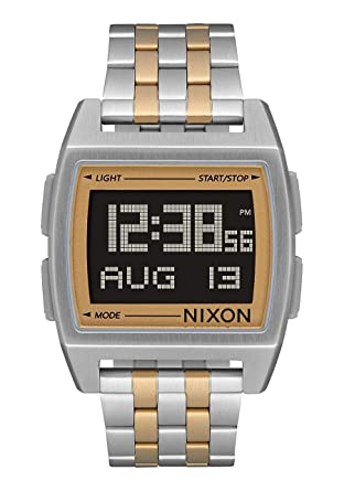 Nixon Base Mens Retro Style Smart Watch (38mm. Digital Face/Stainless Steel Band)