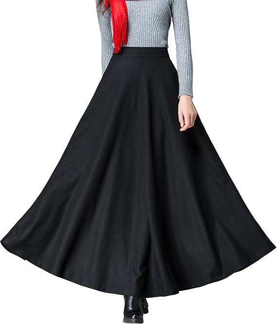 Casual fall skirt A line skirt Wool skirt Winter skirt High waist skirt Winter skirt holiday Skirt with pockets Skater skirt