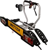 Witter Towbars ZX202 Bicyle Carrier – Bolt-on towball mounted bike carrier for 2 bikes – Maximum load of 34kg – Lightboard for 7pin and 13pin sockets