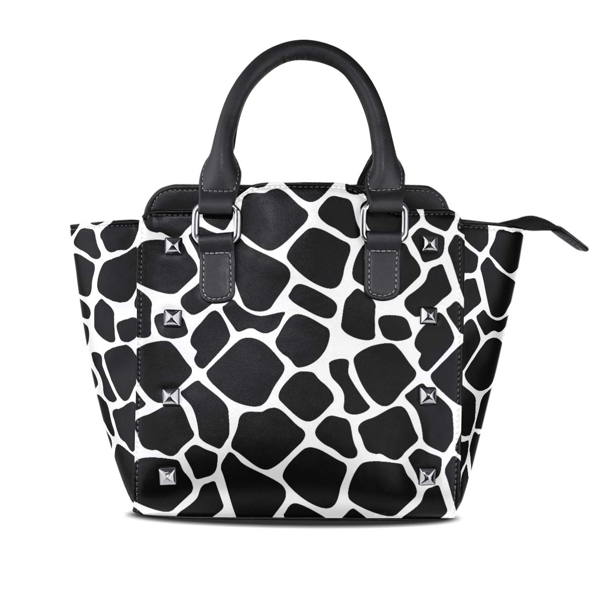 Design5 Handbag LongHorned Cat And Unicorn Genuine Leather Tote Rivet Bag Shoulder Strap Top Handle Women