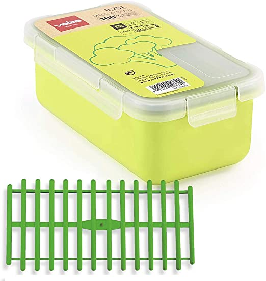 Set Tupper plastico Valira 0,75 L Verde + Rejilla Kabra: Amazon.es: Hogar