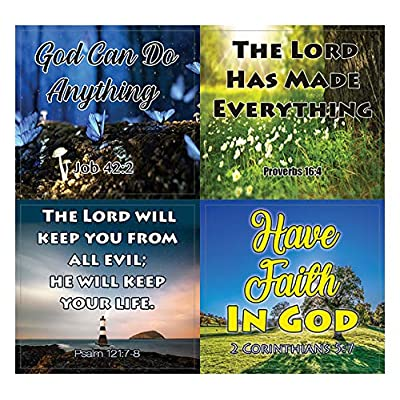 God is in Control Religious Stickers (10-Sheet) - Encouraging Colorful Stickers : Office Products
