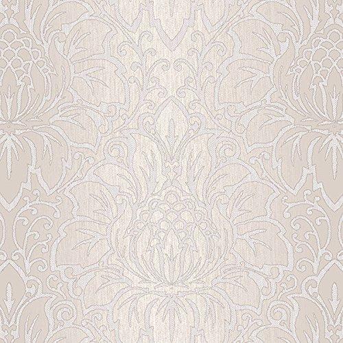 Manhattan Comfort NWTX34824 Evanston Damask Textured Wallpaper, Gray, Taupe, Beige
