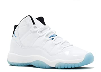 Air Jordan 11 Retro BG Big Kids Shoes White/Legend Blue-Black 378038-