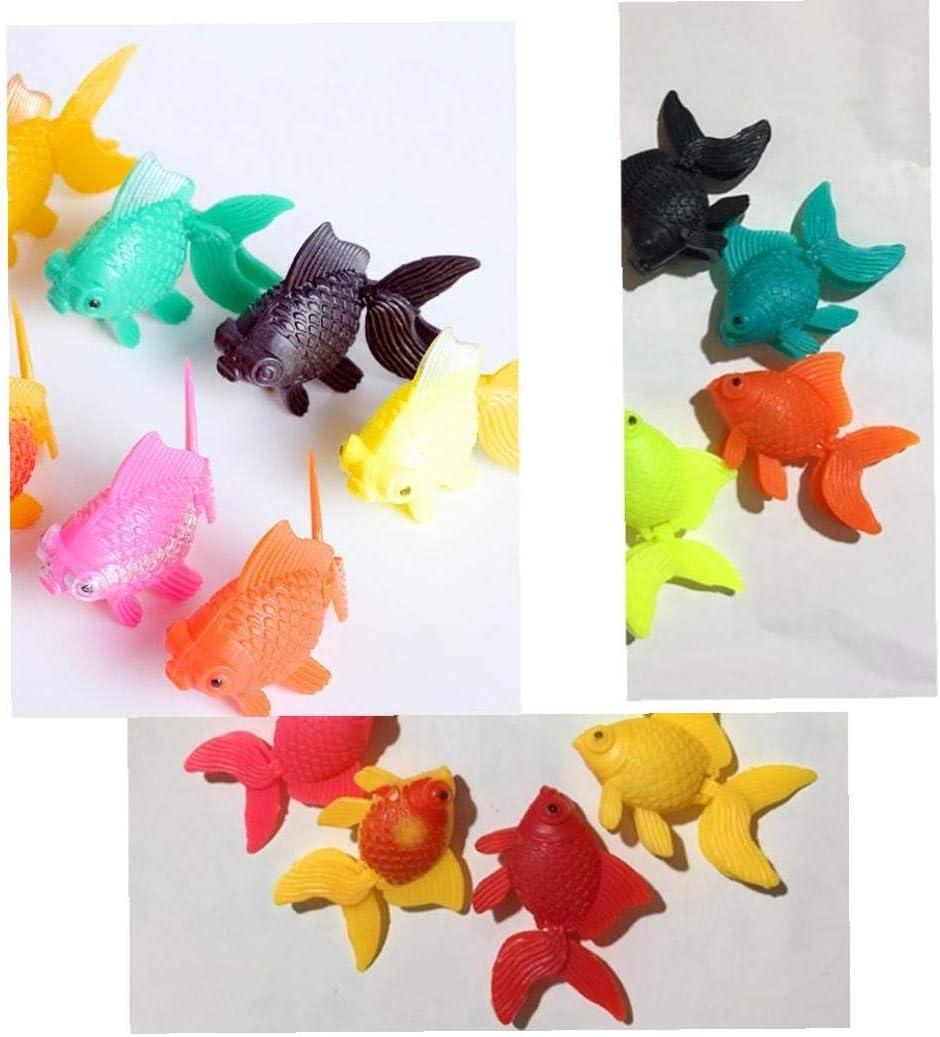 sjqc9561 Realista Pl/ástico Artificial En Movimiento Flotante Peces Ornamento Decoraciones para Peces De Acuario Tanque De Color Al Azar 5pcs