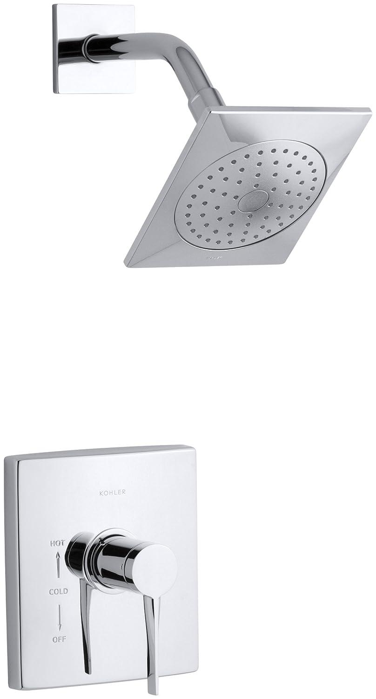 KOHLER K T14778 4 CP Stance Rite Temp Shower Trim, Polished Chrome   Faucet  Trim Kits   Amazon.com