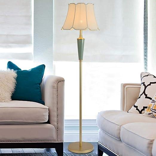 WZC Lámpara de pie, luz de piso de cerámica - Sala de estar ...