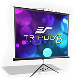 Elite Screens Tripod B, 71-INCH 1:1, Lightweight Pull Up Foldable Stand, Manual, Movie Home Theater Projector Screen, 4K / 8K Ultra HDR 3D Ready, 2-YEAR WARRANTY, T71SB-Z