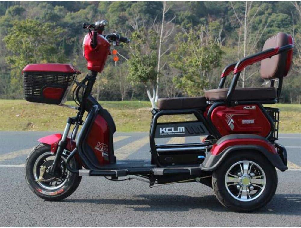 Smx Moderna eléctrico Triciclo Scooter, Ocio al Aire Libre 3-Scooter de Rueda de la batería del Coche, Apto para Personas Mayores o discapacitadas, kilometraje de conducción es 50KM