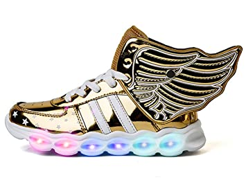 brand new 3d7b9 7c78b Mr.Ang LED Schuhe Kinder 7 Farbe USB Auflade Leuchtend Sportschuhe LED  Sneaker Turnschuhe 26-36