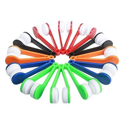 Gafas de sol cepillo limpiador gafas microfibra gafas herramienta de limpieza 12 piezas