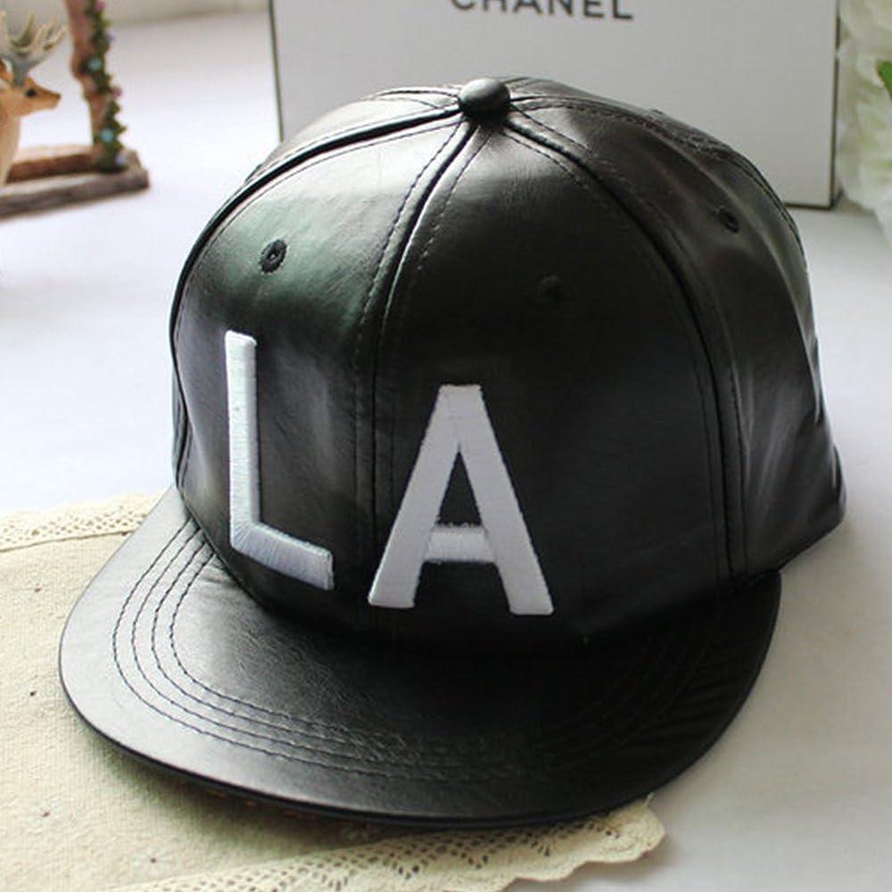 Locomo Negro Piel sintética Bordado LA/NY Gorra de béisbol Gorra ...