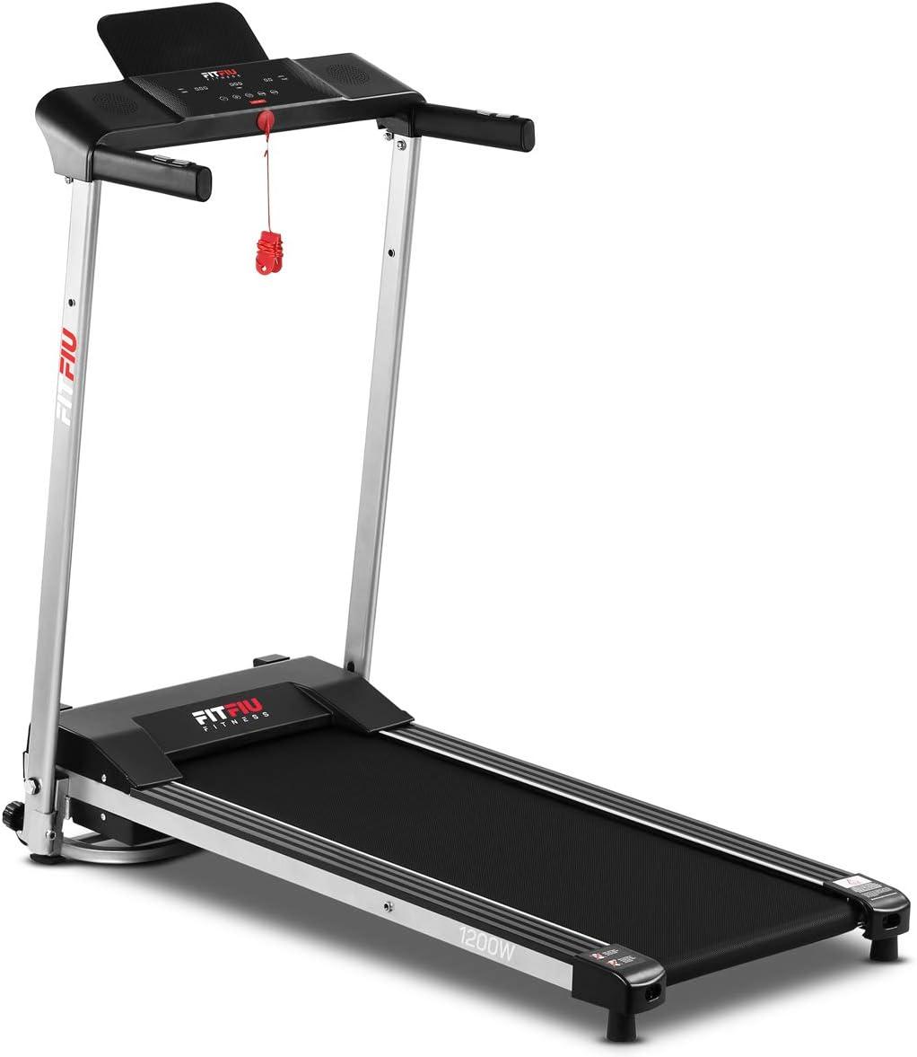 Fitfiu Fitness MC-160 - Cinta de correr plegable ultracompacta, velocidad hasta 10 km/hy superficie de carrera de 36 x 100 cm, Máquina fitness de ...