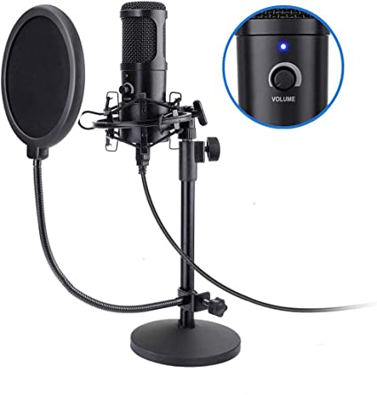 Fifine Usb Podcast Condenser Microphone Recording On Laptop No Need Sound Card