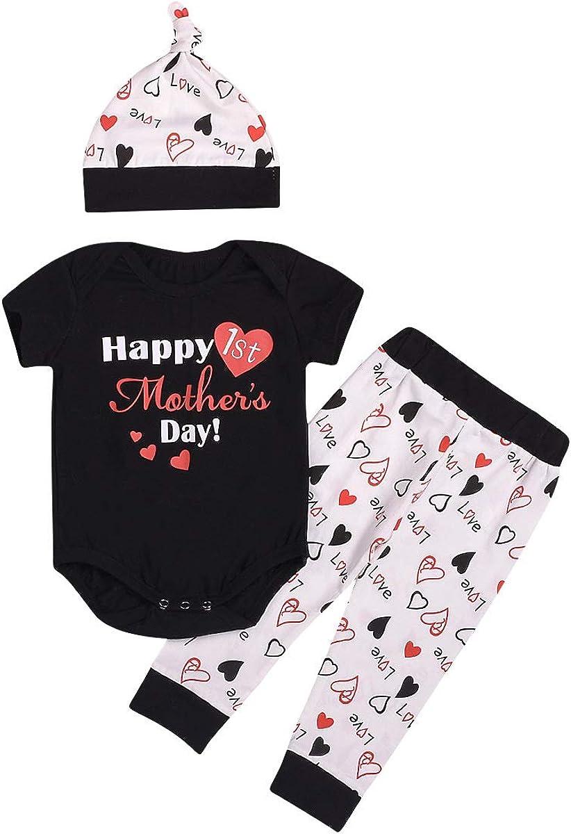 TM Christmas Infant Baby Boy Girl Outfits Romper Pants Leggings Gift Set Elevin