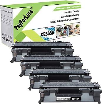 4PK CE505A High Yield Toner For HP LaserJet P2035 P2035n P2050 Toner Cartridge