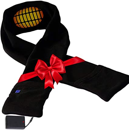 Warm Neck Protective Clothing Rechargeable Heated Scarf for Men Women USB Power Supply Electric Heated Neck Wrap