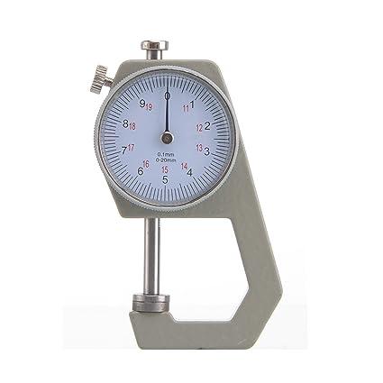 Micrometro de 0-20mm Calibre para Mecanico - papel cuero - bolsillo reloj comparador espesor galga: Amazon.es: Bricolaje y herramientas
