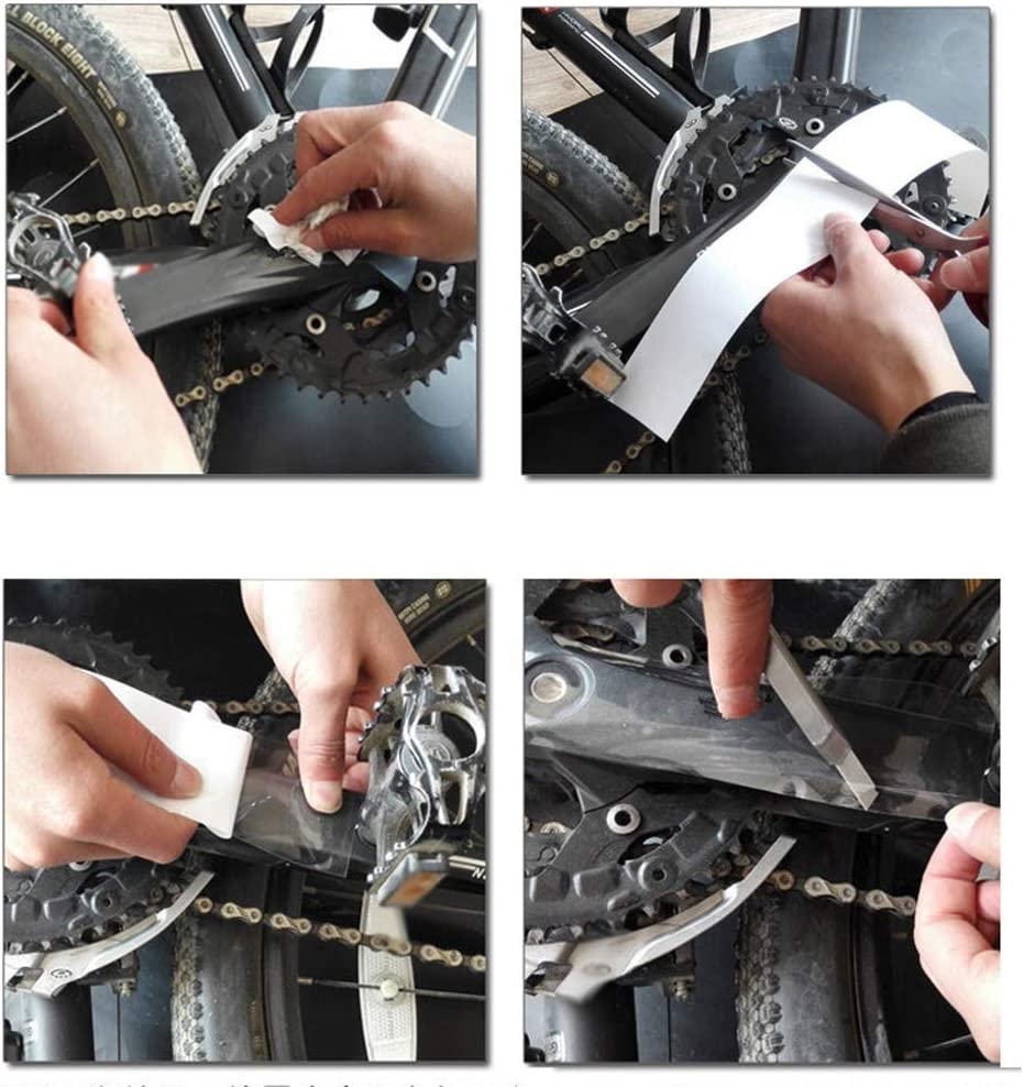 Pvnoocy 4 Packungen Fahrrad Rahmen Schutzfolie Transparent Für Rennrad Mountainbike Sport Freizeit