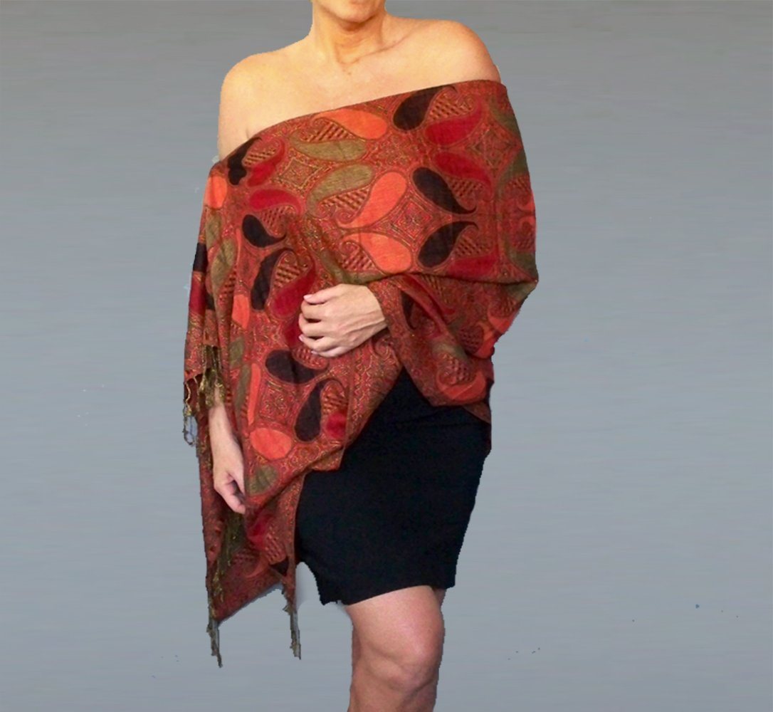 17bde7b2cd This versatile shawl features a unique elastic neckline with a resizable  cord lock for a perfect fit. Wear it as a shawl, ...