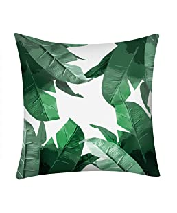 "Xshuai ® 18""x18"" Cactus Banana Leaf Print Pillow Case Polyester Sofa Car Cushion Cover Home Decor (A)"