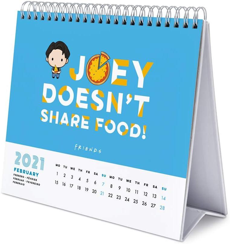 De Janvier /à D/écembre 2021 Calendrier de Bureau 12 Mois Erik/® Calendrier Mensuel 2021 Friends