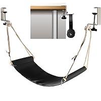 Foot hammock under desk with headphones holder | Upgraded adjustable ergonomic office feet rest |New Screw in rubber…