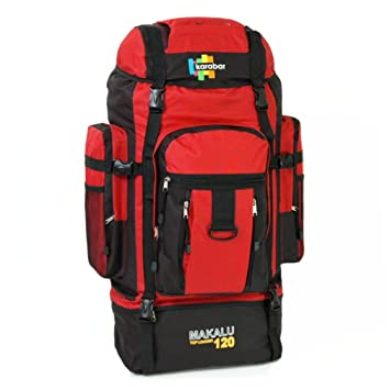 36e410911f Karabar Makalu Top Loader 120 litri Extra Grande zaino da viaggio:  Amazon.co.uk: Sports & Outdoors
