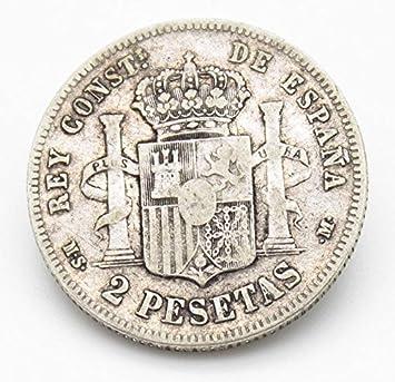 Desconocido Moneda de 2 Pesetas de Plata del Año 1882 Durante La Epoca de Alfonso XII. Moneda Coleccionable. Moneda Antigua.: Amazon.es: Juguetes y juegos