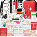 Aootek Upgraded first aid kit survival Kit.Emergency Kit earthquake survival kit Trauma Bag for Car Home Work Office Boat Camping Hiking Travel or Adventures?1pack)