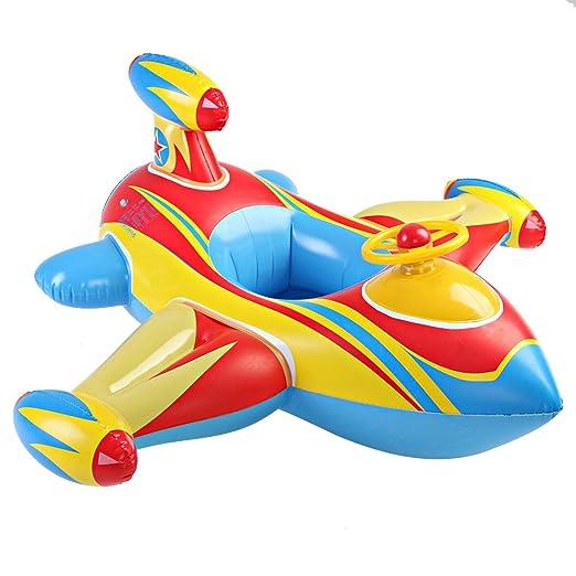 beautylife66 flotador forma de avión flotador juguete asiento para ...