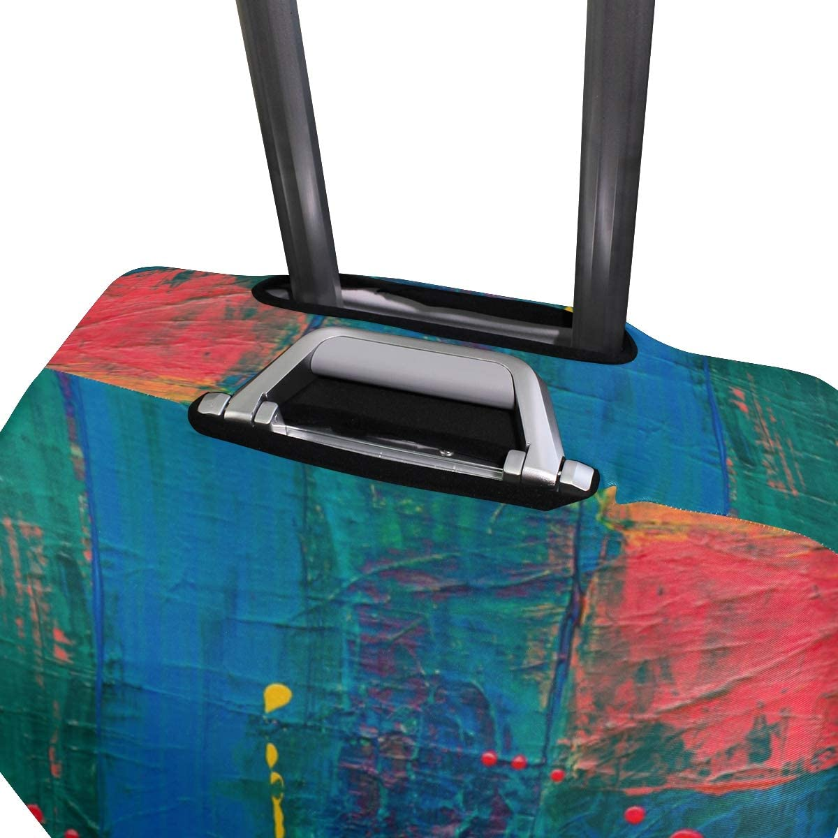29-32 inch Fit 18 to 32 Jacksome Oil Painting Travel Luggage Protector Suitcase Cover Luggage Size XL