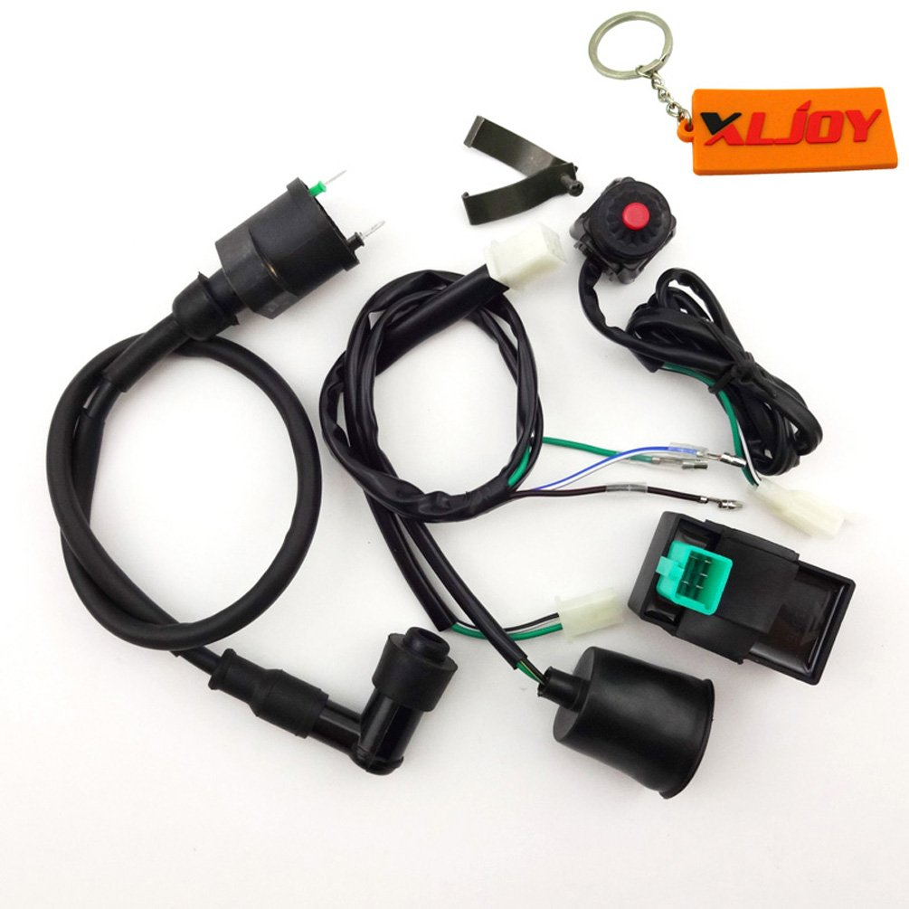 Xljoy Wiring Loom Harness Kill Switch Ignition Coil Cdi 93 Dodge Pickup Dirg For 50cc 160cc Pit Dirt Bike Automotive