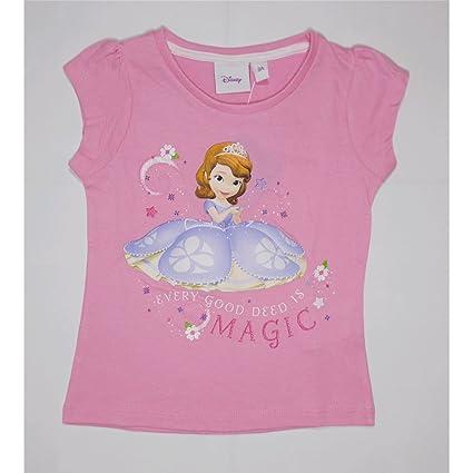 Manica Maglietta Sofia Bambina Shirt T Principessa Estiva Corta T1lFJ3Kc