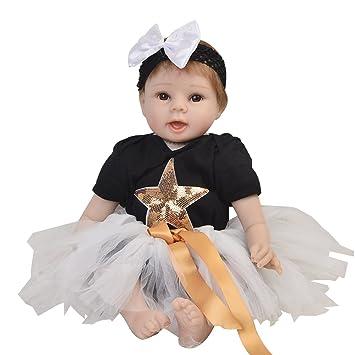 KEIUMI Realista Baby Doll Reborn Recién Nacido Que se ve Real 22 Pulgadas Realista Silicona Suave Muñeca Simulación Bebés Juguete Niños Regalo de ...