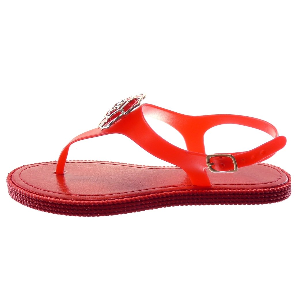 3b8fb7334ed Angkorly Chaussure Mode Tong Sandale Lanière Cheville Salomés Femme Fleurs  Bijoux doré Talon Plat 1 CM  Amazon.fr  Chaussures et Sacs