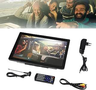 Wandisy TV Digital para automóvil 1080P, TV portátil TFT-LED de 14 Pulgadas, TV Digital portátil ATV/UHF/VHF Sintonizador de Alta sensibilidad Grabación de programas de TV: Amazon.es: Hogar