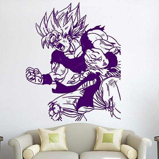 xingbuxin Kids Room Goku Wall Art Decals Dragon Ball Z Etiqueta de ...