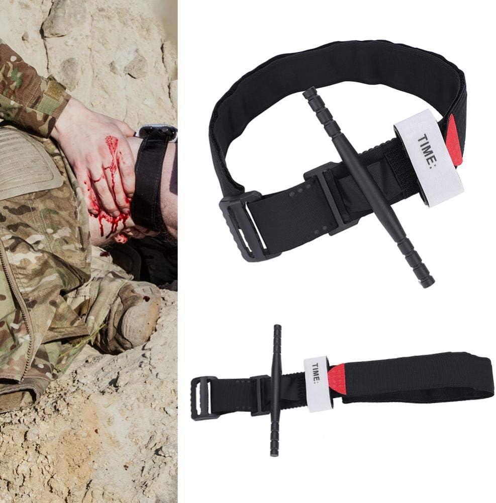 Wandern und Notfall Kits Tactical Tourniquet Erste-Hilfe-Set Tragbare Milit/är Tourniquet Taktische Bandage Rotierendes medizinisches Erste-Hilfe-Werkzeug Notfallverletzung Blut-Stop Tourniquet