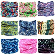 Kalily 16-in-1 Sweatband Headband Bandana Protective Multi-use Seamless Breathable Neck and Head Tube Gaiter. Can Be Used As Neck Warmer, Headband, Bandana, Wristband, Balaclava, Headwrap. For Outdoor Activities Like Fishing Hunting Golf Camping Hiking Sports Motorcycle Riding Biking Cycling